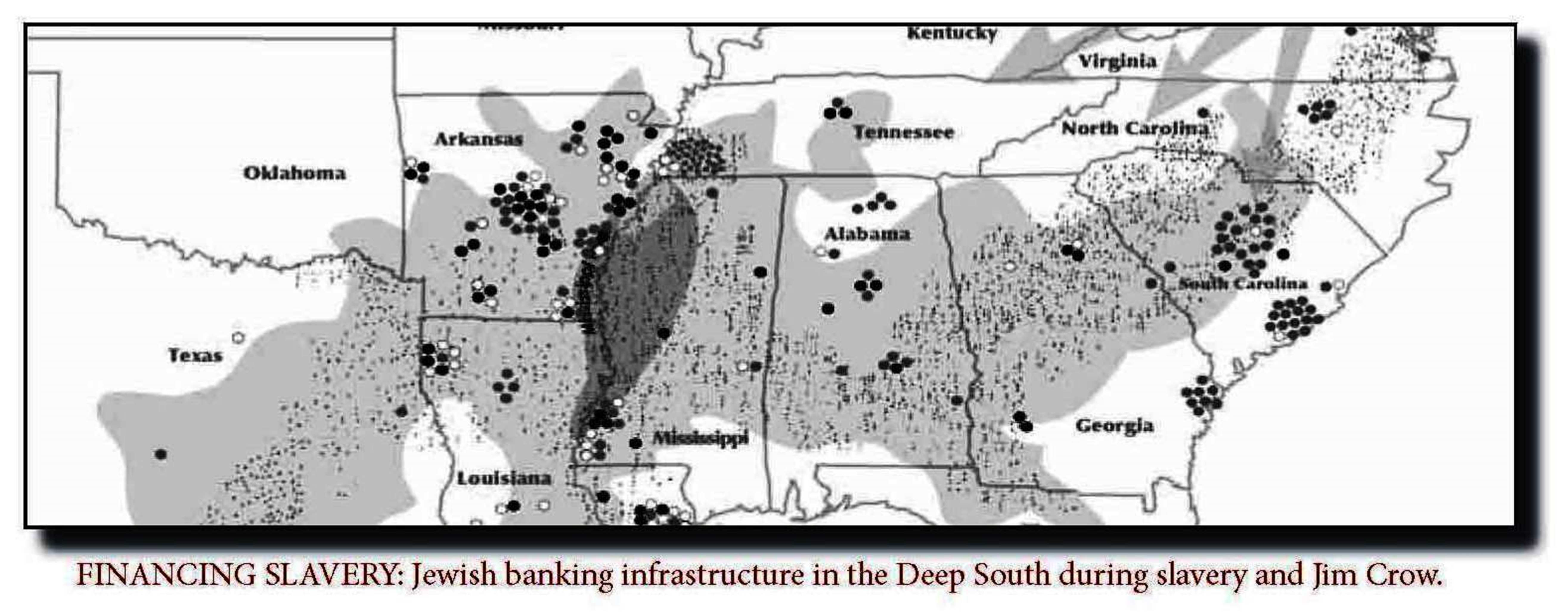 Financing Slavery- Jewish Banking infrastructure during slavery and Jim Crow