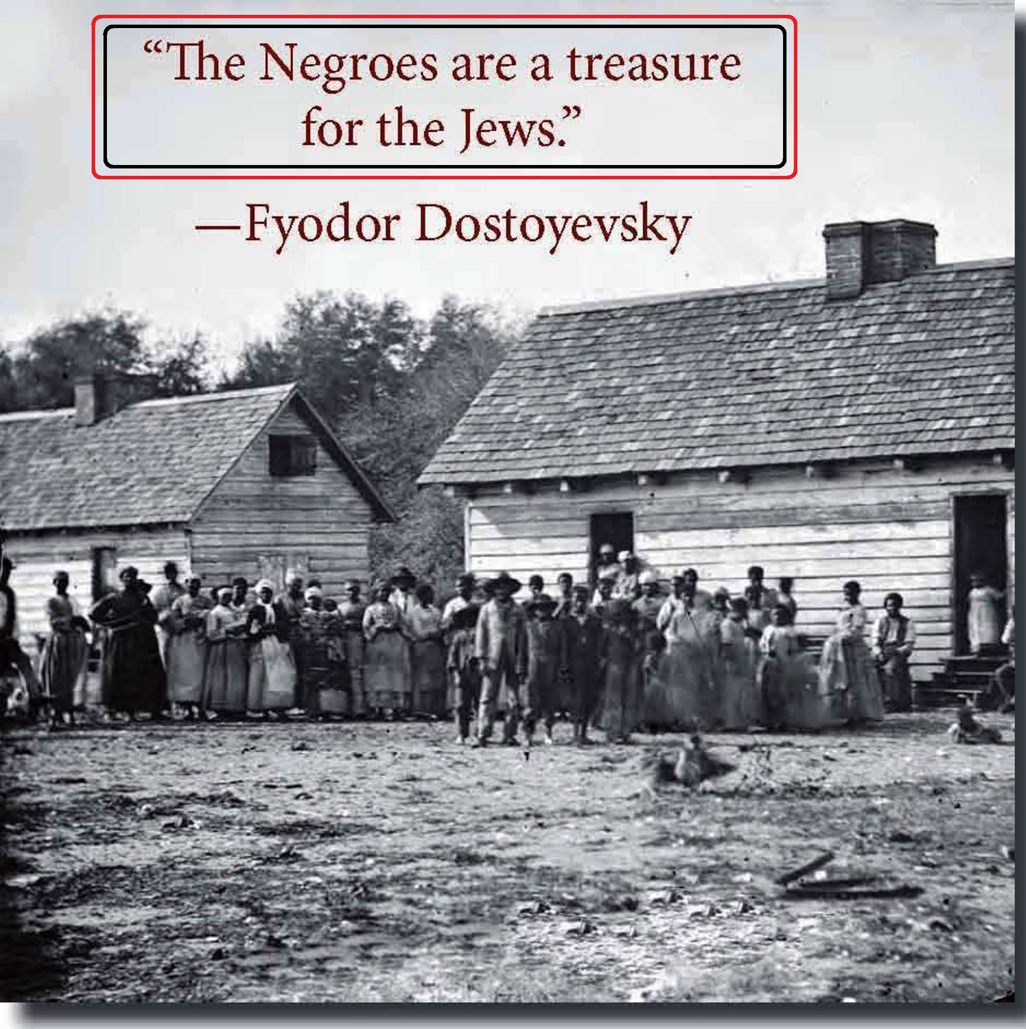 Negroes are a treasure for the Jews
