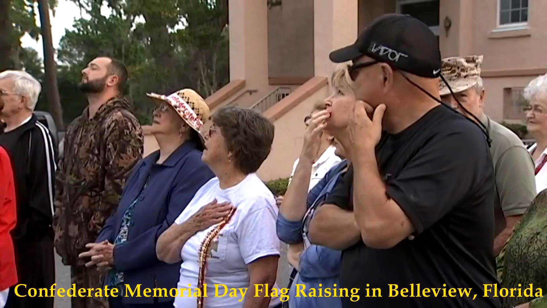 Confederate Flag Raising, Belleview, FL 2017__02