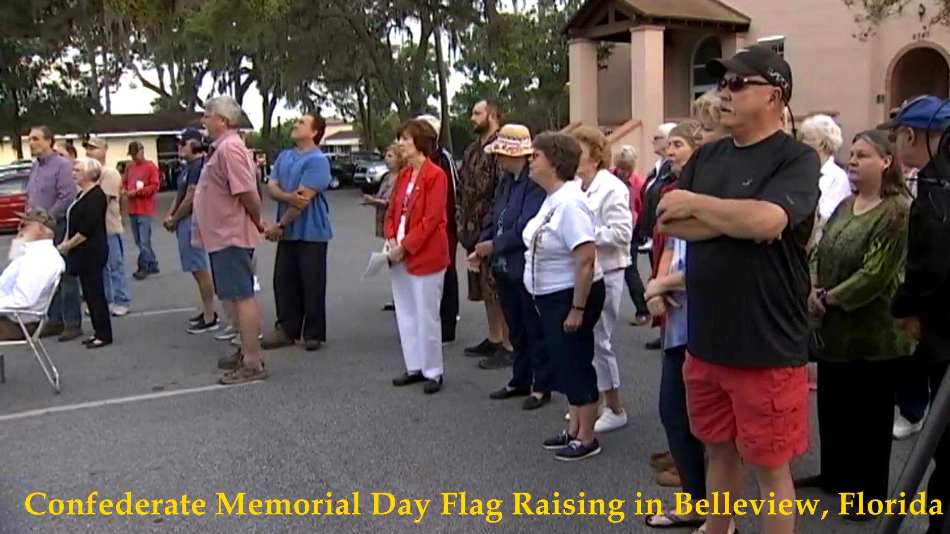 Confederate Flag Raising, Belleview, FL 2017__05
