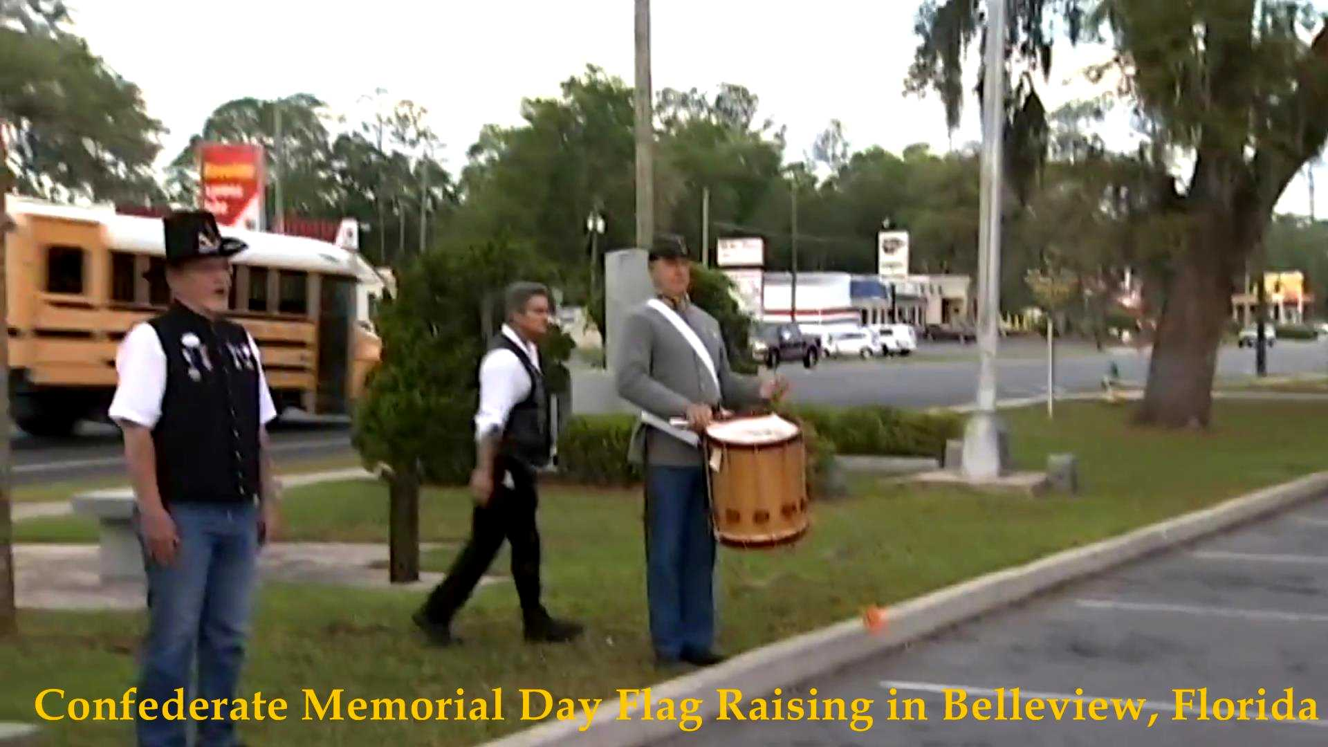 Confederate Flag Raising, Belleview, FL 2017__06