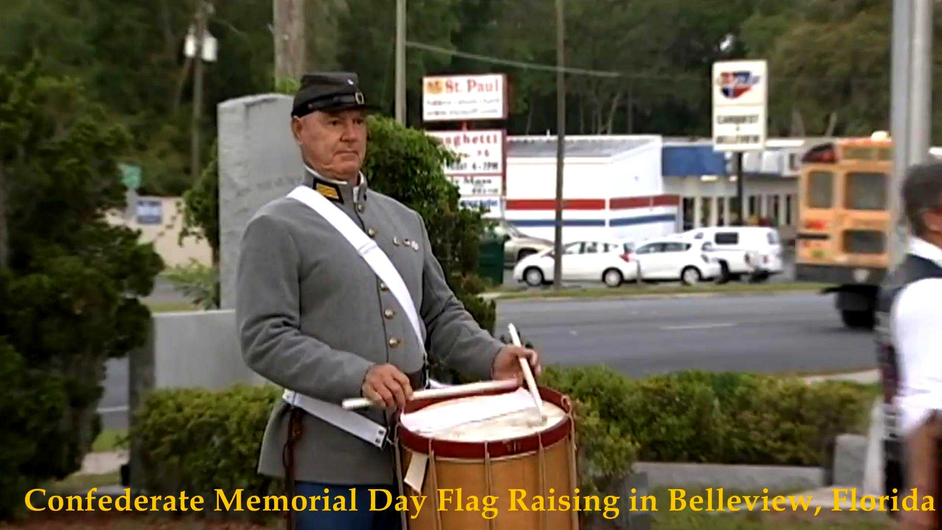 Confederate Flag Raising, Belleview, FL 2017__07