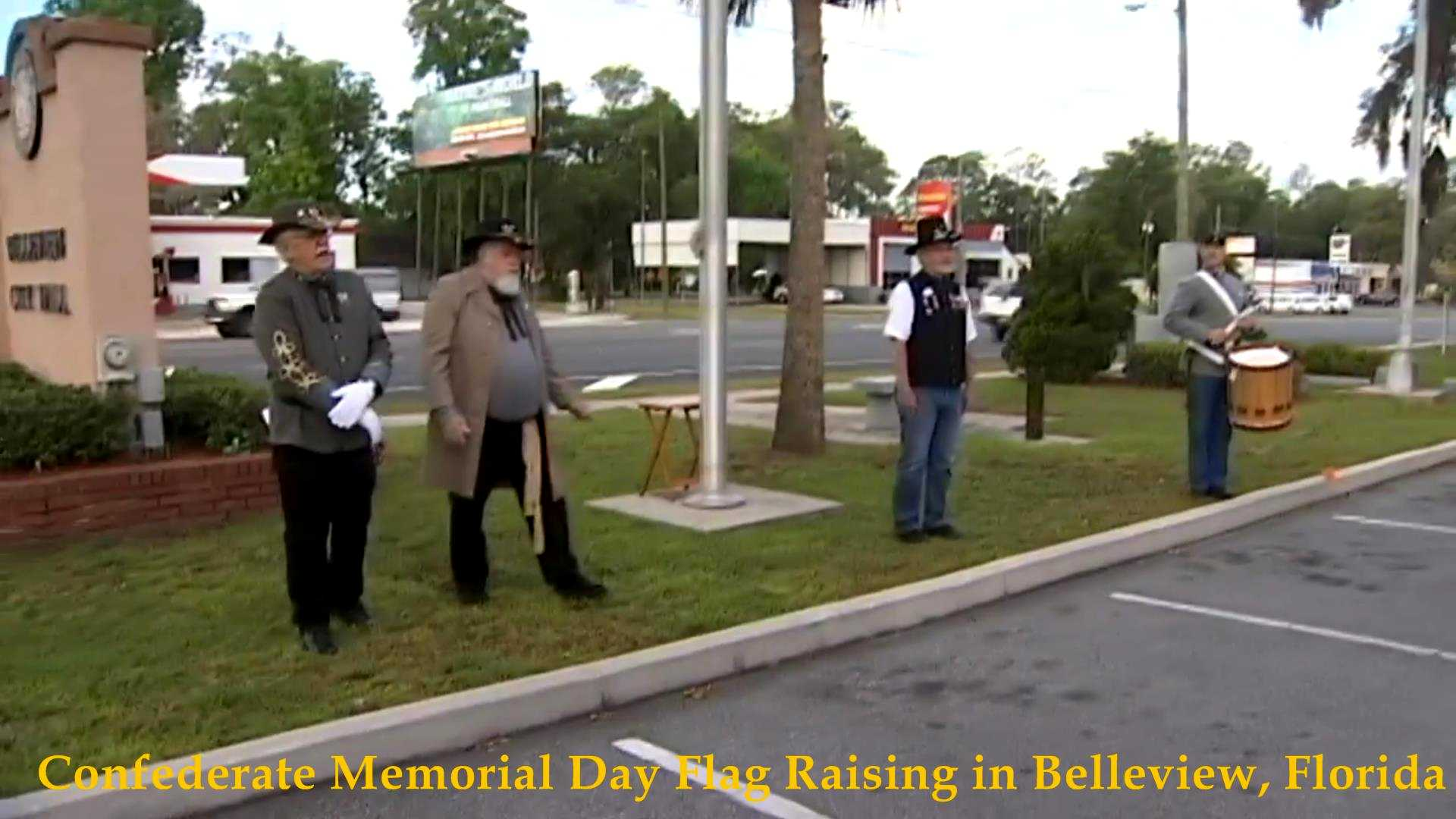 Confederate Flag Raising, Belleview, FL 2017__08