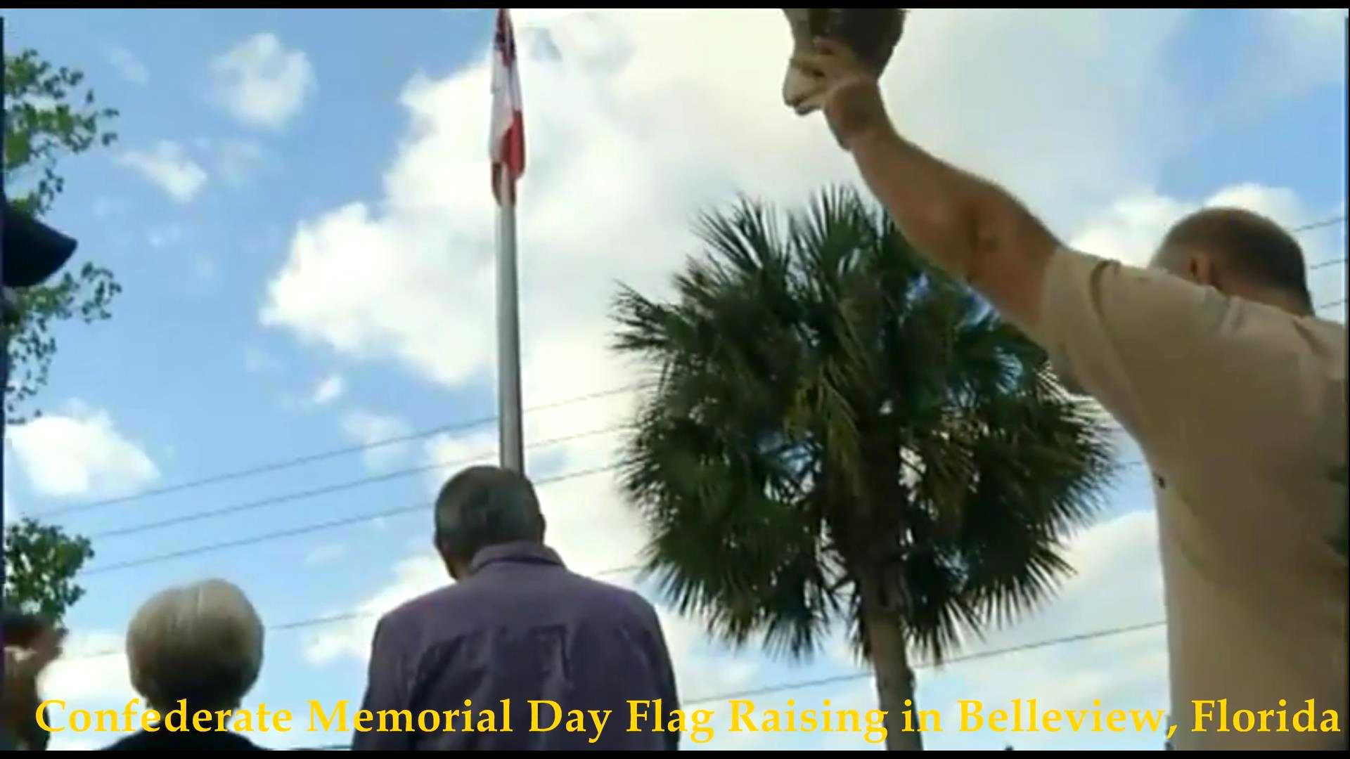Confederate Flag Raising, Belleview, FL 2018__02