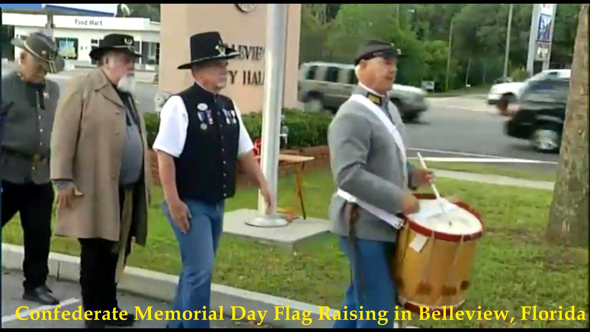 Confederate Flag Raising, Belleview, FL 2018__04