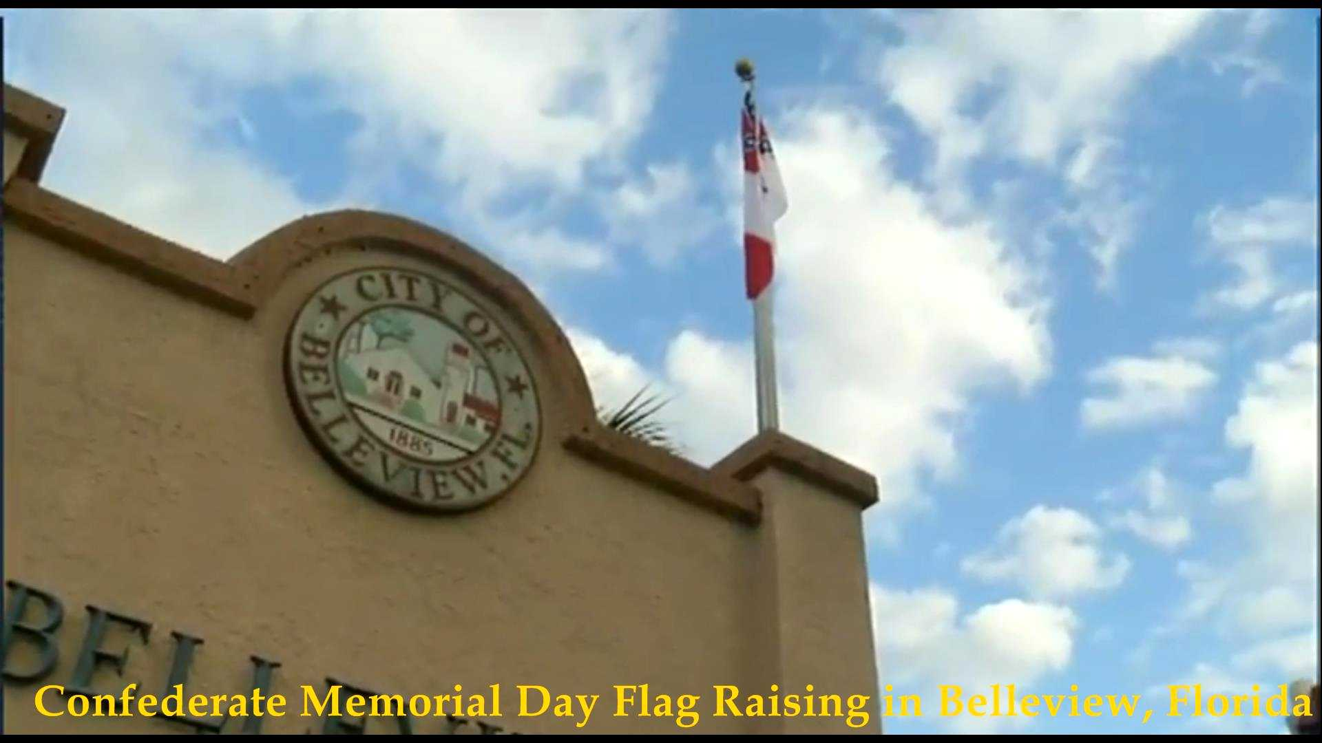 Confederate Flag Raising, Belleview, FL 2018__06