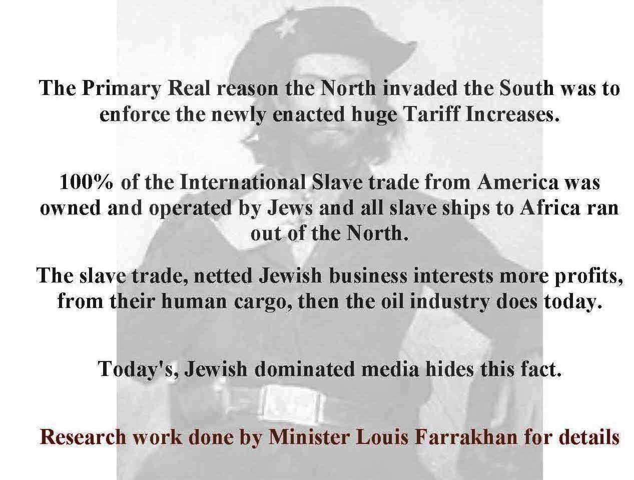 100% of the International Slave trade