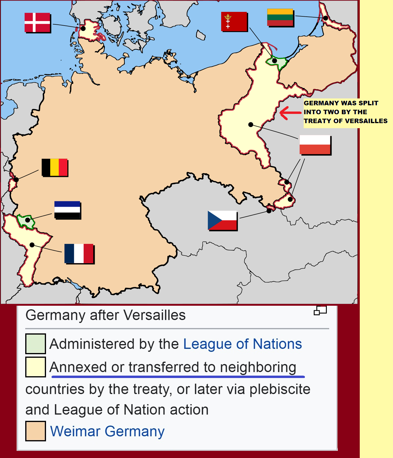 Germany Loss of Land After WWI